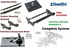 DRAW-TITE COMPLETE FOLD DOWN GOOSENECK TRAILER HITCH SYSTEM 99-16 FORD F250 F350