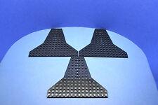 LEGO 3 x Keil Bau Platte schwarz 16x14 Shuttle Flügel Flugzeug Space 6219