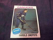 1975-76 OPC O-Pee-Chee #396 Harold Snepsts Rookie Canucks exmt  last card in set