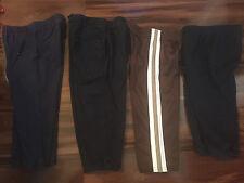 4 pair boys PANTS LOT navy blue dress SWEATPANTS new brown ACTIVE size 24 MONTHS