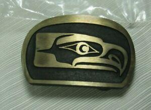 Seattle Seahawks Kwakuitl Belt Buckle Sandcast Solid Bronze Made in Washington