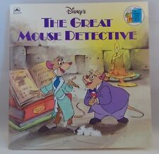 Disney's Great Mouse Detective vintage book 1986