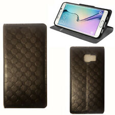 For Samsung Galaxy S6 G920 Leather Wallet Book Flip Stand Case Cover Black New