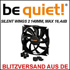 [be quiet! ®] silentwings 2 140mm PWM carcasa-ventilador/fan → 16,4db case radiador 14cm