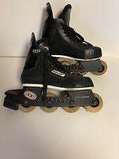 BAUER H1 Off Ice Hockey Inline Roller Blades Skates Size 7 D Black NHL