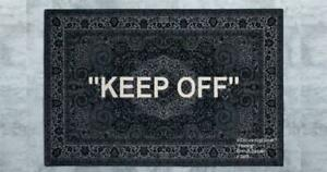 "OFF WHITE x IKEA ""KEEP OFF' RUG BLACK/WHITE VIRGIL ABLOH 200 300"