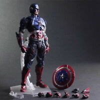 Play Arts Kai Captain America Action Figures Collection Toy Doll Mode