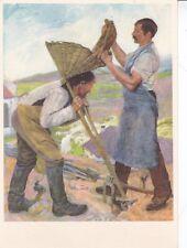 Gustave Jeanneret Report de la Terre Postcard used VGC