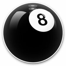 2 x Vinyl Stickers 25cm (bw) - Awesome 8 Ball Pool Snooker  #38817