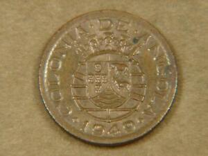 1949 Angola 10 Centavos Coin