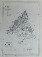 MADRID, MAPA ORIGINAL, 1867