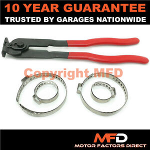 CAR ATV FITS 99% OF VEHICLES CV BOOT CLAMPS PAIR X 2 & EAR PLIERS