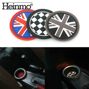 77mm Union Jack Soft Silicone Water Cup Holder Coasters For Mini Cooper ONE JCW