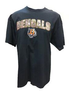 Cincinnati Bengals Men's Heritage Camo Logo T-Shirt - Black