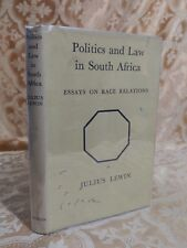 1963 Politics and Law in South Africa Essays on Race Relations Antique Book w DJ