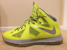 "Nike Lebron X 10 ""Volt Dunkman"", 541100 700, Men's Basketball Shoes, Size 14"