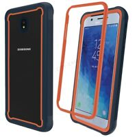 For Samsung Galaxy J7 2018 Shockproof Bumper Case Heavy Duty Dual Layer Cover