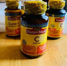 Nature Made Vitamin C 1000 mg Tablets 100 ea Help Support Immune Exp 12/2023+