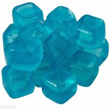 18 X Reusable Plastic Ice Cubes Cold Drinks Bar BBQ Quick Freezing Blue