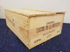 """Chateau Tertre De La Mouleyre Wine Crate holds 12 btt size 8""""x13""""x20"""""""