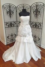 353 SIGNATURE JUSTIN ALEXANDER 9653 NATURAL SZ 12 $2000 WEDDING GOWN DRESS