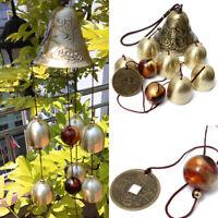 6 Bells Metal Wind chimes Outdoor indoor Home Garden Wind Bell Hanging Gift 16in