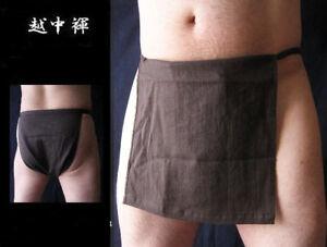 Men Japanese Traditional 100% Cotton Underwear Ecchu Fundoshi 11 Solid Colors