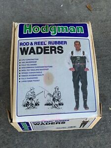 Hodgman Rod & Reel Rubber Insulated Waders Size 9 worn 1 time suspenders missing