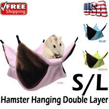Hamster Hanging Double Layer Hammock House Pet Ferret Rat Squirrel Sleeping Bag