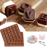 Cool 3D Silicone Letter Alphabet Cake Fondant Mould Chocolate Cookies Candy Mold