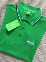 "HUGO BOSS GREEN LABEL GREEN ""GR-PEPPO PRO"" GOLF POLO SHIRT TOP S M L XL NEW TAGS"