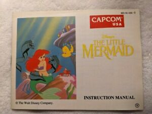 The Little Mermaid Nintendo NES Manual only Free Shipping