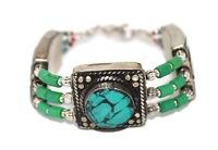 Turquoise Bracelet Boho Bracelet Silver Bracelet Tribal Bracelet Gypsy Bracelet