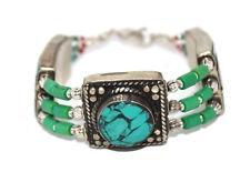 Bracelet Tribal Bracelet Gypsy Bracelet Turquoise Bracelet Boho Bracelet Silver