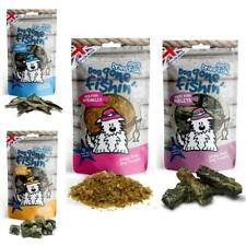 Dog Gone Fishin NATURAL FISH TREATS Puppy Healthy Whitebait Red Skin Skins Cubes