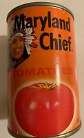Vintage Maryland Chief Paper Label Empty Tin Can Tomatoes Indian