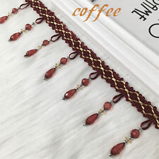 1yd Beaded Curtain Accessory Fringe Ribbon Trim Crafting Sewing Lace By