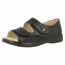 Ladies Padders Wide Fitting Sandals Grace Black 5 UK 4e