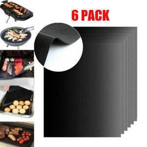 6 X Grillmatten antihaft Dauer-BBQ Bratunterlage Backofenfolie Grillen