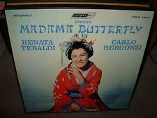 SERAFIN / PUCCINI madama butterfly ( classical ) 3lp box set - booklet - ffrr -