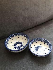 2 Keramik Schälchen Blaue Blumen