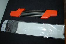 """2 in 1 File Holder Chainsaw Sharpening 200 x 4.0mm 7 7/8 x 5/32"""" new in pack"""