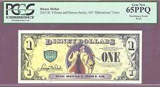 "2013 PROOF $1 Disney Dollar ""Cruella de Vile"" 101""Dalmations"" Error PCGS 65 PPQ"