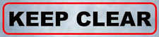 KEEP CLEAR Adhesive Sign Warning Escape, Evacuation Emergency Way Public Safety