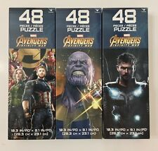 Lot Of 3 Avengers Infinity War 48 Piece Puzzle - Avengers   Thanos   Thor - New