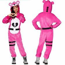 Fortnite Cuddle Team Leader Pink Hooded Jumpsuit & Belt Costume Youth Medium8-10