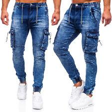 Jeans Freizeithose Laufhose Trainingshose Jogger Hose Men Herren Mix BOLF Cargo