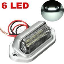 Chrome 6 LED License Plate Tag Light Truck Trailer Van Interior Step Lamp 12V