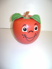 VINTAGE 1972 FISHER PRICE HAPPY APPLE SHORT STEM ROLLY POLY CHIME MUSICAL TOY