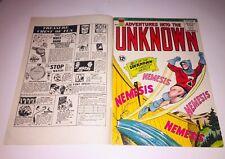 Adventures Into The Unknown #154 Double Cover Error Misprint ~ 1st App Nemesis🔑